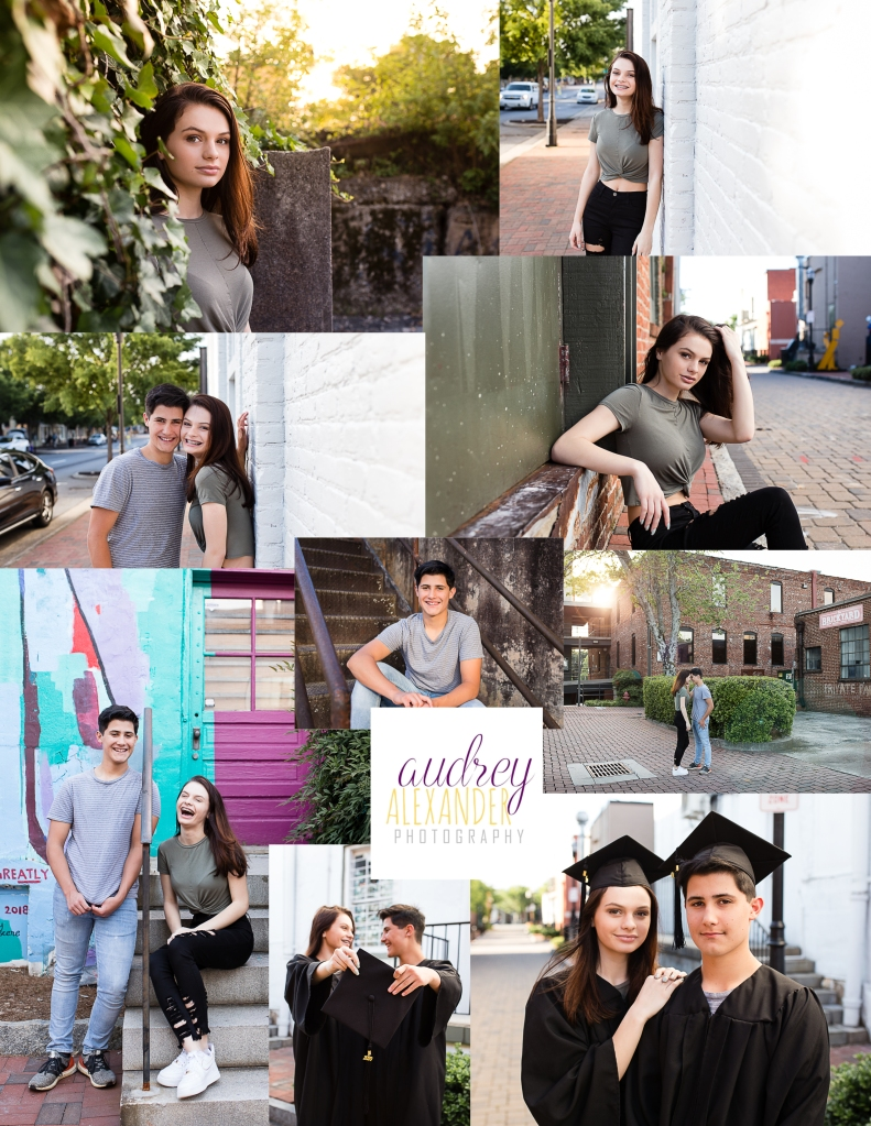 Senior Graduation social distancing mini sessions. Atlanta. Roswell. Marietta. East Cobb. Audrey Alexander Photography