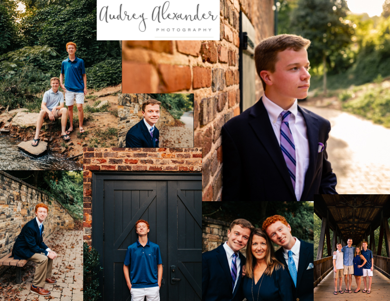 Roswell senior photographer at Roswell Mill
